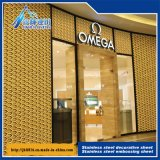 201 304 Embossing Color Stainless Steel Plate Decorative Hollow Sheet 101