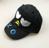 sombrero negro del camionero de la felpa de la manera 5-Panel