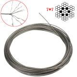 Corde de fils en acier inoxydable 316 7X7 1,5 mm de diamètre