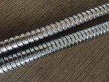 Le double d'acier inoxydable a verrouillé la pipe flexible de douche, la longueur de 1.5m, EPDM, noix en laiton, fini passé au bichromate de potasse, certificat d'Acs