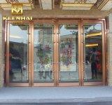 Porta comercial de vidro exterior da segurança da entrada do aço inoxidável