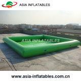 PVC膨脹可能なプール、無地のプール、緑のプール