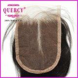 2017の閉鎖(CL-015)が付いている熱い販売のQuercyの人間の毛髪のペルーの束のKincyの治療のレース