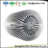 L'alluminio di Girasole-Figura del materiale da costruzione profila il dissipatore di calore