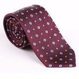 Plaid élégant Necktie-02 tissé par soie de modèle neuf