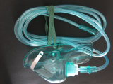 Masque à oxygène de PVC de premiers soins avec la tuyauterie