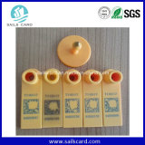 Schaf-Drucken-Zahl-Plastikviehbestand-Ohr-Marke mit gelber Farbe