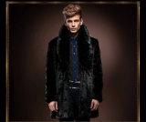 新しい冬の人のための模造ウサギの毛皮のコート