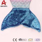 高品質の勾配カラースパンコールのフランネルの羊毛の人魚のテール毛布