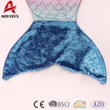 Одеяло кабеля Mermaid ватки фланели Sequins цвета градиента высокого качества
