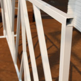 アメリカの粉の上塗を施してある白い群集整理のイベントの障壁