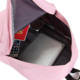 女の子屋外旅行余暇のラップトップのキャンバスの学校のバックパック袋