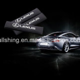 Le carbone de ceinture de sécurité de logo de véhicule de jaguar couvre des garnitures d'épaule