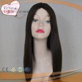 Largo cabello virgen brasileño peluca la parte superior de la piel (PPG-L-0100)
