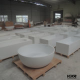 Bon marché de la pierre artificielle de forme ovale baignoire autostable