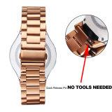2017 de Heetste Band van het Horloge van het Metaal, Drie Links 20mm 22mm de Band van het Roestvrij staal voor Samsung