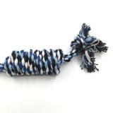 Mastication de corde d'os de noeud tressée par coton de jouet de chiot de crabot d'animal familier