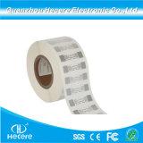 Inventário de propriedade do fornecedor de inlay UHF 860~960MHz extraterrestre imprimível H3 Etiqueta RFID