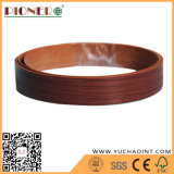 borda de borda de madeira do PVC da grão de 1.5X22mm para a mobília