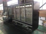 Vertical comercial puerta de cristal Mostrar nevera