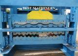 機械を形作る鋼鉄プロフィールシートの屋根瓦の二重層ロールを着色しなさい
