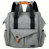 Zaino multifunzionale alla moda del sacchetto del pannolino del bambino con le cinghie del passeggiatore