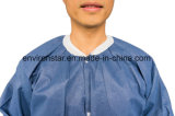 Blanc Gommages uniformes résistant aux acides de l'hôpital chirurgical Blouse de laboratoire de protection