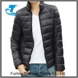 Выстеганный скалозуб Packable женщин облегченный промелькивает вверх короткую куртку