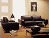 Canapé en cuir moderne de meubles de salle de séjour avec canapé moderne
