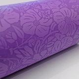 Esteras púrpuras grabadas modificadas para requisitos particulares de la yoga del color de la flor