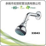 H1013 cabezal de ducha de plástico cromado