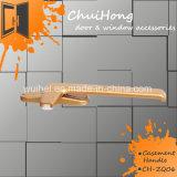 Novo produto personalizado de pintura por pó de fechadura do puxador da porta de alumínio