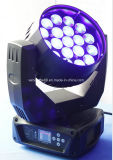 19 12W RGBW LEDのビームズームレンズの移動ヘッドDJはつく