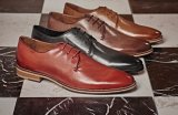 Мужчины из кожи высокого класса Designer Loafer Lace Up обувь обувь