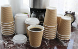 taza de café del papel de empapelar de la ondulación 8oz