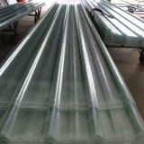 El material para techos acanalado de la fibra de vidrio del panel de GRP FRP/del vidrio de fibra artesona las hojas