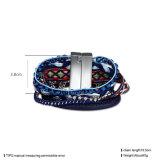 Ювелирные изделия Handmade Braided магнитного браслета фермуара разнослоистого искусственние