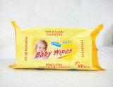 Tissus humides de Spunlace d'aloès de bébé bon marché de Vera