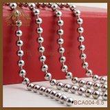 Comercio al por mayor Joyas Collar chapado en níquel de 6,5 mm de la cadena de bolas