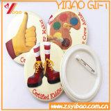 Изготовленный на заказ круглые напечатанные значки кнопки Pin для подарка промотирования (YB-BT-01)