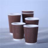 Papier gaufré 16 oz jetable tasse pour machine à expresso