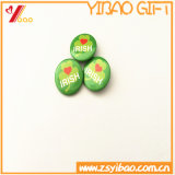 Divisas impresas redondas de encargo del botón del Pin para el regalo de la promoción (YB-BT-01)
