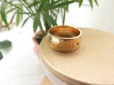 여자 남자를 위한 구리 고급장교에서 써 넣기를 가진 형식 보석 18K 금에 의하여 도금되는 반지