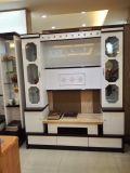 6 Tür-Wohnzimmer hölzerne Fernsehapparat-Glasverkaufsmöbel