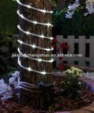 7m 50LED wärmen weiße wasserdichte Sonnenkollektor-Zeichenkette-Lichter