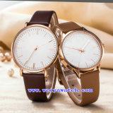 Montres de classique d'OEM de montre de courroie en cuir pour les couples (WY-G17010B)