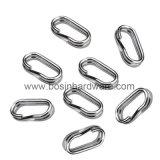 Les trous de double anneau en acier inoxydable pour la pêche Accessoires pour outils