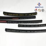 Tubo idraulico Braided idraulico del filo di acciaio di SAE 100r1/del tubo di gomma