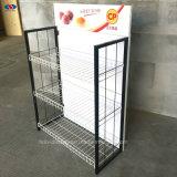 金属線の棚のパンの食糧表示棚