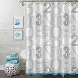 Nuevo Diseño Venta al por mayor cortina de ducha en PVC con Anti-Fungal/Anti-Bacterial